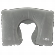 <<AIR SUPPLIES INFLATABLE PILLOW>> ネックピロー 首枕 グレー / 50285-09